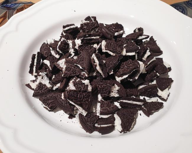 galletas oreo troceadas receta brownie
