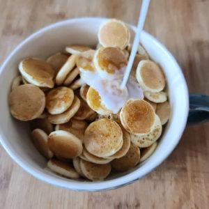 receta mini pancakes o mini tortitas americanas